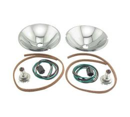 Headlight Conversion Kit - Quartz Halogen - 6 Volt - Ford Pickup Truck