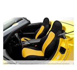 Corvette Coverking CR-Grade Neoprene Seat Covers, Sport Seat With 4 Horizontal Pleats On Lower Backrest, With Seat-Mount Power Control, 1991-1993