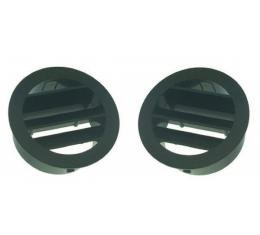 Chevy Truck Black Left and Right Defroster Top Vents, 1964-1966