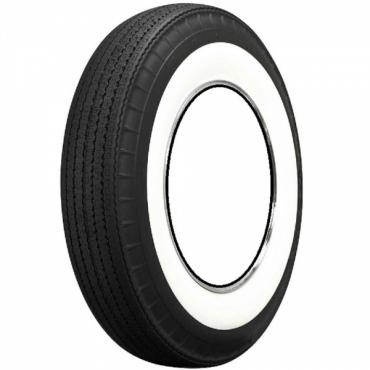 """Chevy And GMC Truck Tire, Original Appearance, Radial Construction, 7.10 x 15"""" With 2-3/4"""" Whitewall, 1947-1963"""