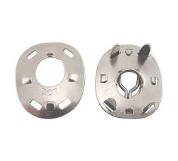 Ford Lift The Dot Fastener Socket - Nickel - With Backing Plate