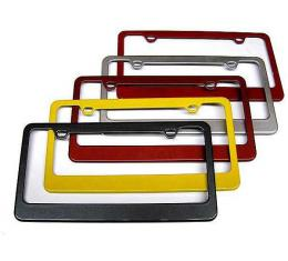 Painted Body Color Rear License Plate Frames, 2014-2017
