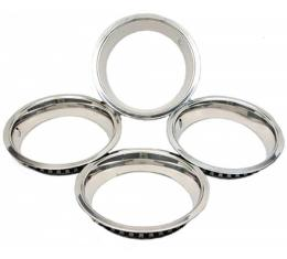 Nova Or Chevy II Super Sport (SS) Wheel Trim Ring Set, 14 x 7, With Inside Style Clips, 1967-1974