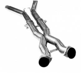 "Corvette Kooks 3""x2.5"" Stainless Steel Off Road X-Pipe, 2005-2008"