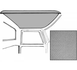 Ford Pickup Truck Headliner - Gray Perforated - Ford Standard Cab Ford F100 To Ford F350