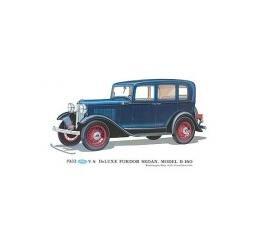 Print - 1932 Ford Fordor Sedan (B160) - 12 X 18 - Unframed