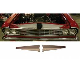 El Camino Core Support Filler Panel, Anodized Aluminum, 1964