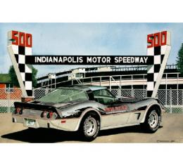 Corvette Indy In 1978, Fine Art Print By Dana Forrester, 11x17