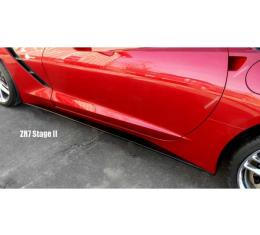 Corvette Stingray Painted Body Color Side Skirt, Stage II Package, 2014-2017