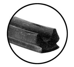 Model T Ford Top Window Cushion - Rubber - Closed Car - 31 - Reuse Your Metal Retainer