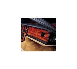 Corvette Passenger Side Dash Insert, Rosewood, 1984-1989