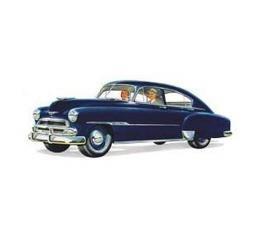 Chevy Front Door Glass, Fleetline 4-Door Sedan, 1949-1951