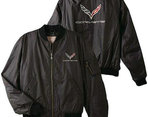 Corvette Aviator Jacket, C7 Corvette Logo & Script