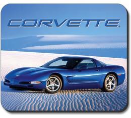 Corvette Mouse Pad, C5 Vette In The Desert