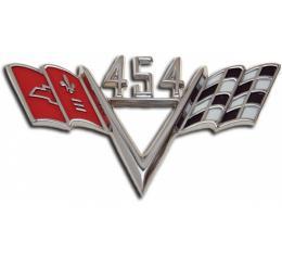 El Camino Fender Emblem, 454 V With Flags, 1965-1967