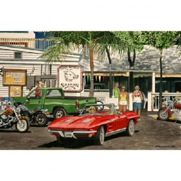 Corvette Hog's Breath Saloon, Fine Art Print By Dana Forrester, 11x17