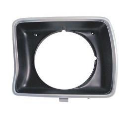 Ford Pickup Truck Headlight Door - Argent & Black - Round Headlights - Left - F100 Thru F350