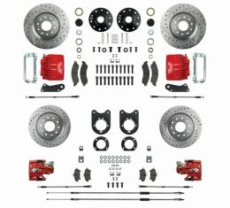 Big Brake Disc Conv, 4 Wheel Kit, Staggered
