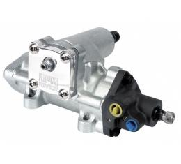 Early Chevy Flaming River Steering Box, Power Box, For GM, 16:1 Ratio, With Billet Cap, Plated, 1949-1954