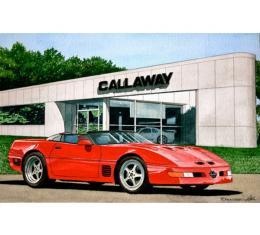 Corvette Callaway At Callaway, Fine Art Print By Dana Forrester, 11x17