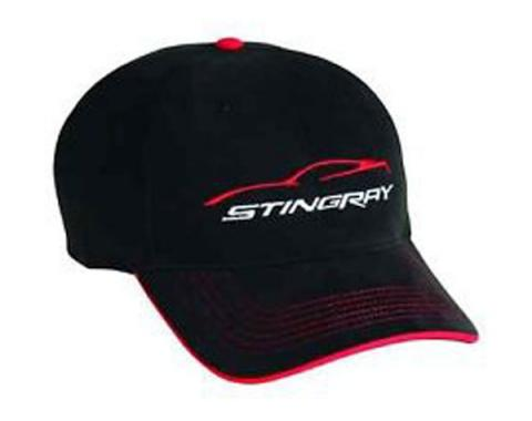 Corvette Stingray Cap With Gesture Logo, Black