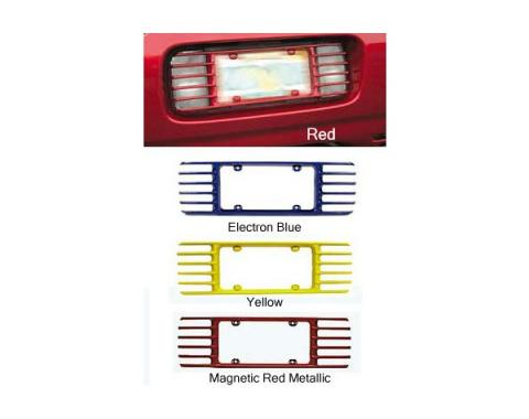 Corvette Rear License Plate Frames, Altec Phantom, Painted In Factory Colors, 1997-2004
