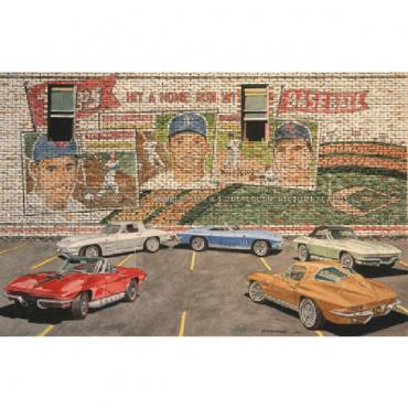 Corvette Icons, Fine Art Print By Dana Forrester, 11x17