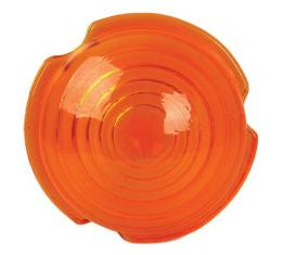 Parking Light Lens - Round - Amber Glass - Ford Pickup Truck Except C.O.E.