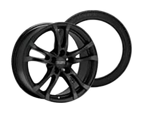 Camaro Anzio Turn Black Wheel Rim and Firehawk Wide Oval AS W-Speed Rated Wheel Rim Kit, 2010-2015