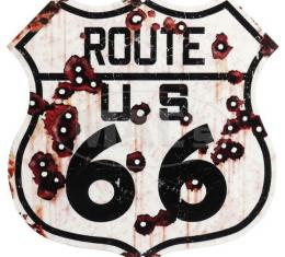 Weathered Route 66 Road Sign