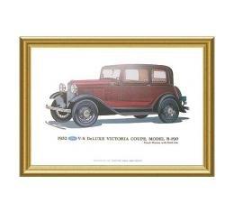 Print - 1932 Ford Victoria (B190) - 12 X 18 - Framed
