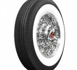 Tire, 670 X 15, 2-11/16 Whitewall, Tubeless, Universal, 1955-56