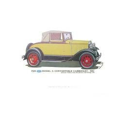 Model A Print - 1931 Ford Cabriolet (68C) - 12 X 18 - Unframed