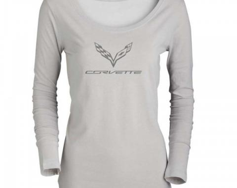Ladies Corvette C7 Logo Long Sleeve T-Shirt