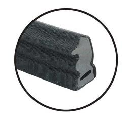 Quarter Window Vertical Seals - Cloth Covered Rubber - Ford& Mercury
