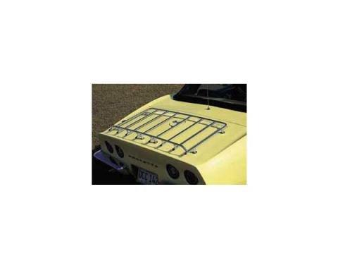Corvette Luggage Rack, 6-Hole, Stainless Steel, 1968-1975