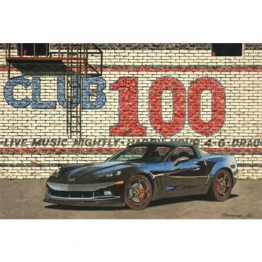 Corvette Reflections Of A Century, Fine Art Print By Dana Forrester, 11x17