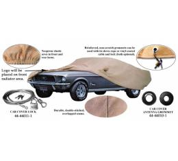 Car Cover, Poly-Cotton, With Logo, Shelby Fastback 1966-1968, With Mirror Pockets On Both Sides
