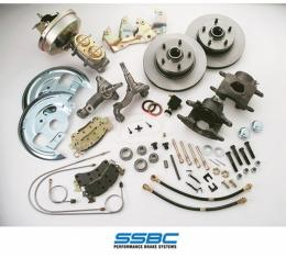 Firebird Disc Brake Conversion Kit, Front, For Cars With Power Drum Brakes, SSBC, 1967-1969