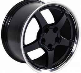 Firebird 18 X 9.5 C5 Style Deep Dish Reproduction Wheel, Black With Machined Lip, 1993-2002