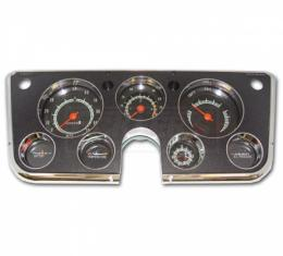 Chevy Or GMC Truck Dash Cluster Assembly, With 5000 RPM Tach And Clock Conversion, 1967-1968