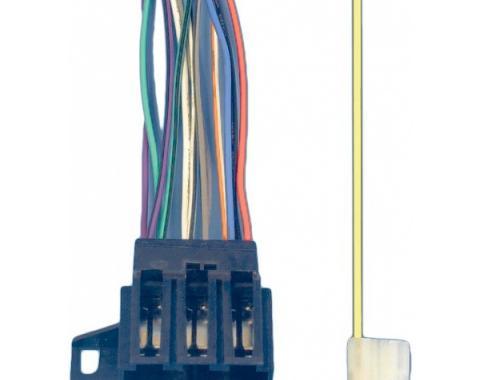 Corvette Radio Wiring Harness & Connector, Late 1977-1987