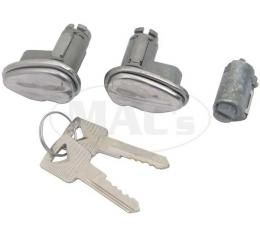 Door and Trunk Lock Set, 53-59 Ford