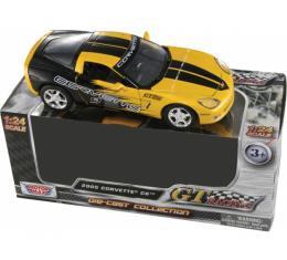 2005 Corvette Diecast Model, 1:24 Scale, Yellow