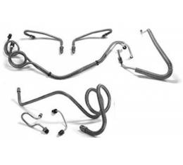 El Camino Full Brake Line Set, Power Drum, Without Super Sport Optioned, Stainless Steel, 1966