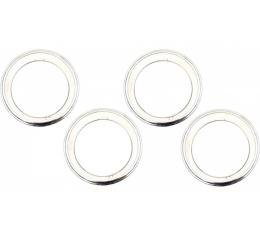 Firebird Rally Wheel Trim Ring Set, 14 x 7, With Inside Style Clips, 1967-1969