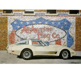 Corvette All American Flag Company, Fine Art Print By Dana Forrester, 11x17