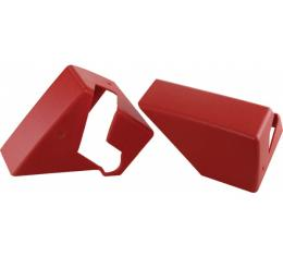Corvette Roof Storage Mount Covers, Flame Red, 1990-1992