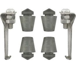Model A Ford Stone Guard J Clip Hardware & Bumper Kit