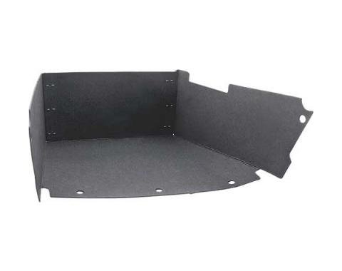 Ford Mustang Glove Box Liner - Without Air Conditioning - Stainless Steel Clips Are Installed